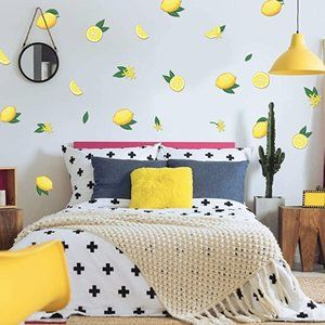 Mock Wallpaper Decals Lemon/Lemonade Boho Trendy